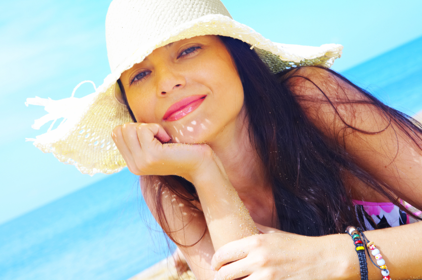 Cheveux soleil chapeau
