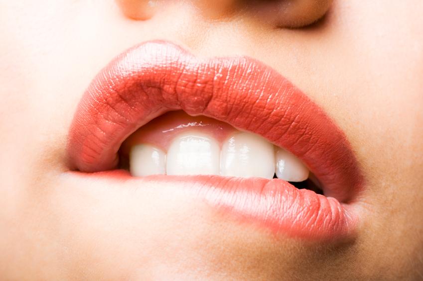 lèvres bouche rouge gloss