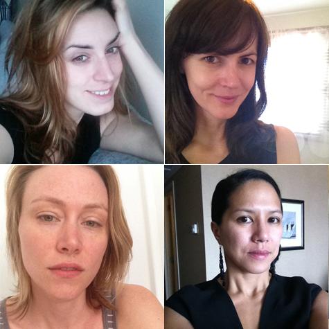 selfie equipe sans maquillage