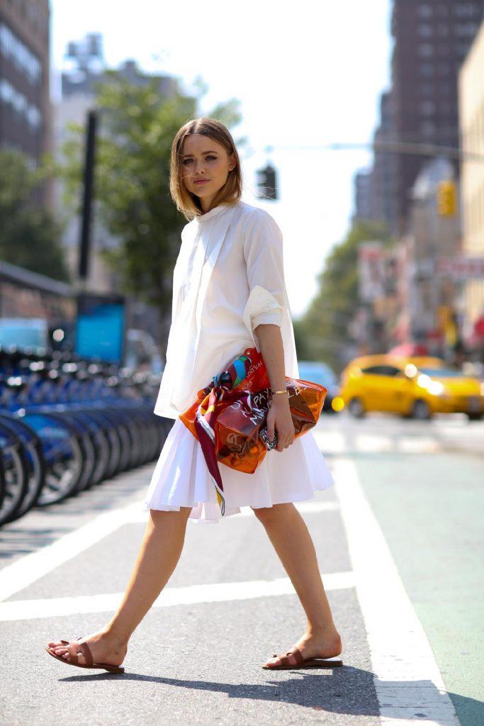 Look inspirant pour porter le blanc