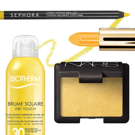 Shopping beauté jaune