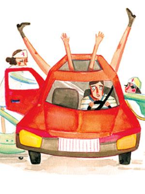 """C""""est mon histoire: j'ai eu mon bébé dans mon auto."""