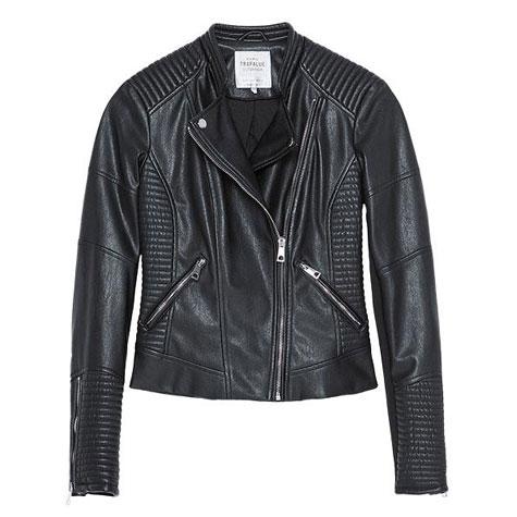 Zara manteau de cuir
