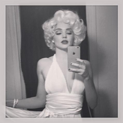 Halloween: Miranda Kerr en Marilyn Monroe