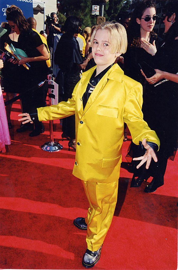 Aaron Carter aux Grammys, en 1993