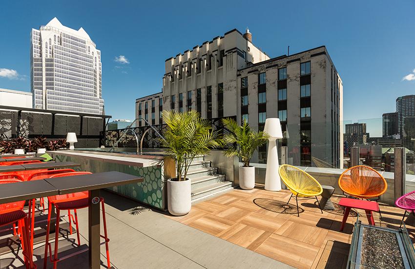 La terrasse de l'hôtel Renaissance