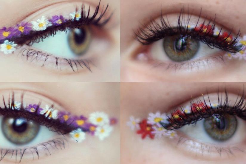 L'eye-liner à fleurs : la tendance maquillage de l'été