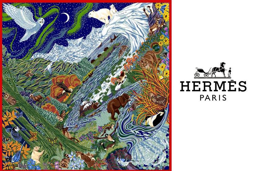 Hermès célèbre le 150e anniversaire du Canada avec un carré de soie exclusif
