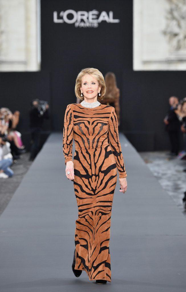 Le défilé L'Oréal Paris: Jane Fonda