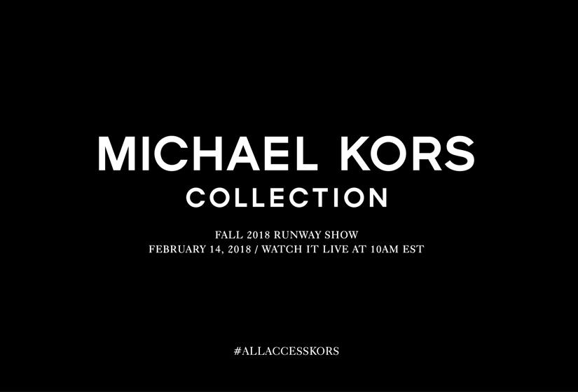 Assistez au défilé Michael Kors automne-hiver 2018-2019 en direct