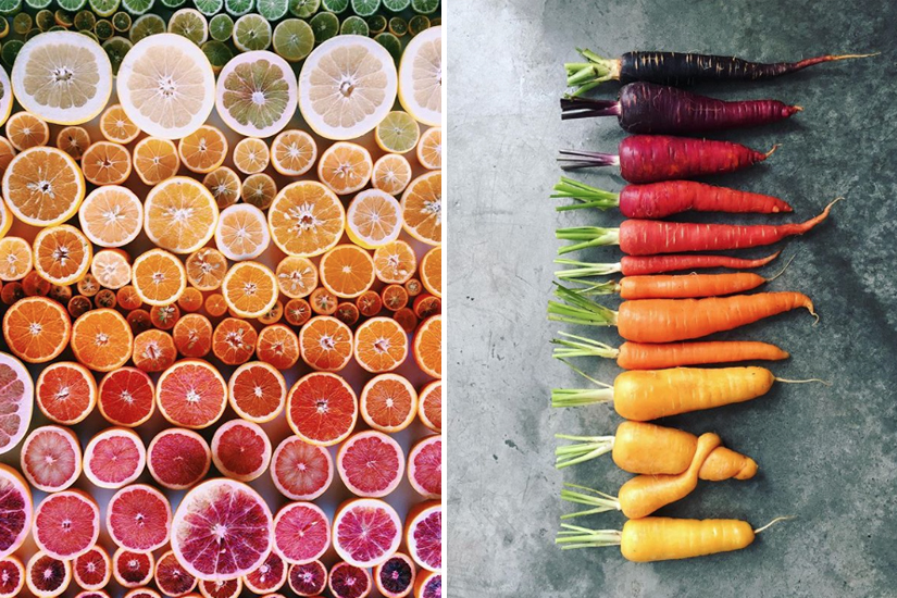 Ce compte Instagram crée des tableaux culinaires colorés