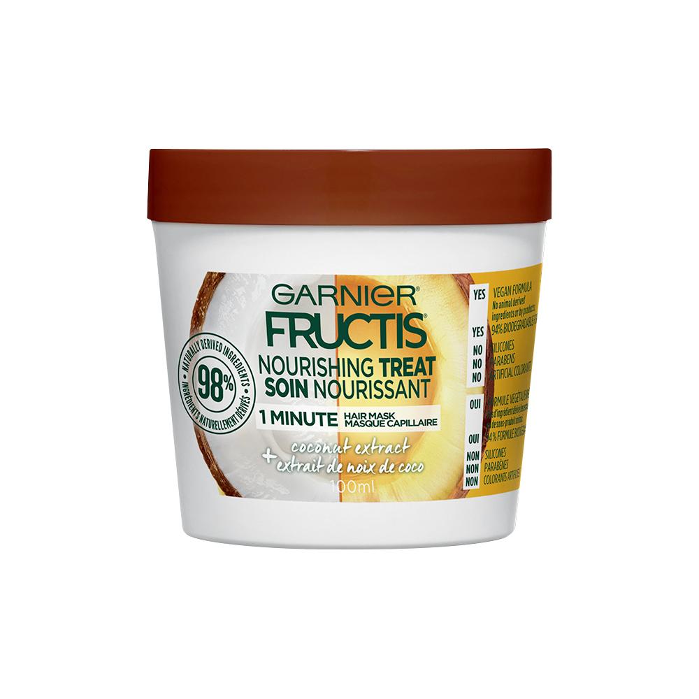 Masque de soin capillaire nourrissant Hair Treats + extrait de noix de coco, de Garnier Fructis