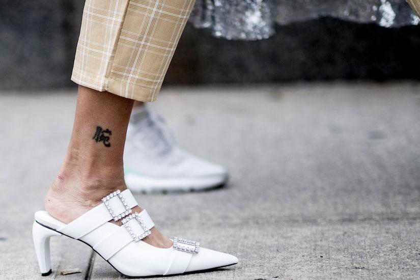 STREET STYLE: la chaussure blanche vue aux Fashion Week  printemps-été 2019