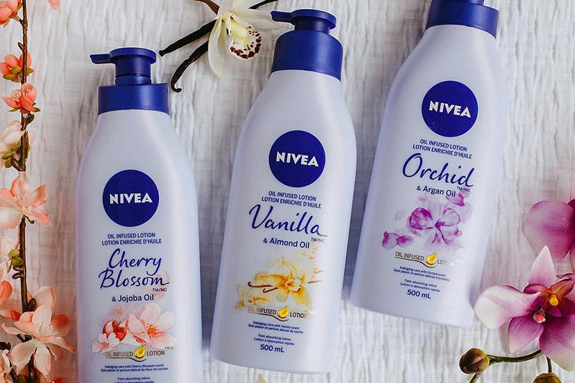 J'ai testé la lotion enrichie d'huile Cherry Blossom & Jojoba Oil, de Nivea