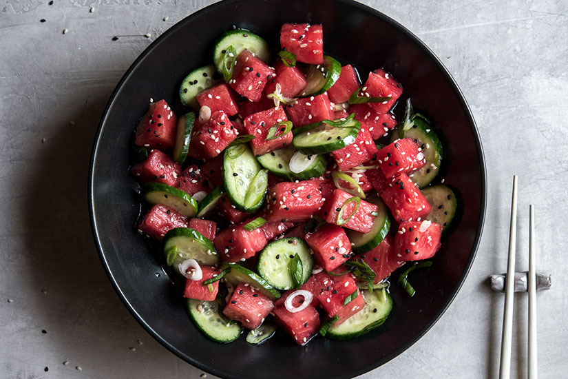 Sweet-and-Sour-Cucumeber-and-Watermelon-Salad