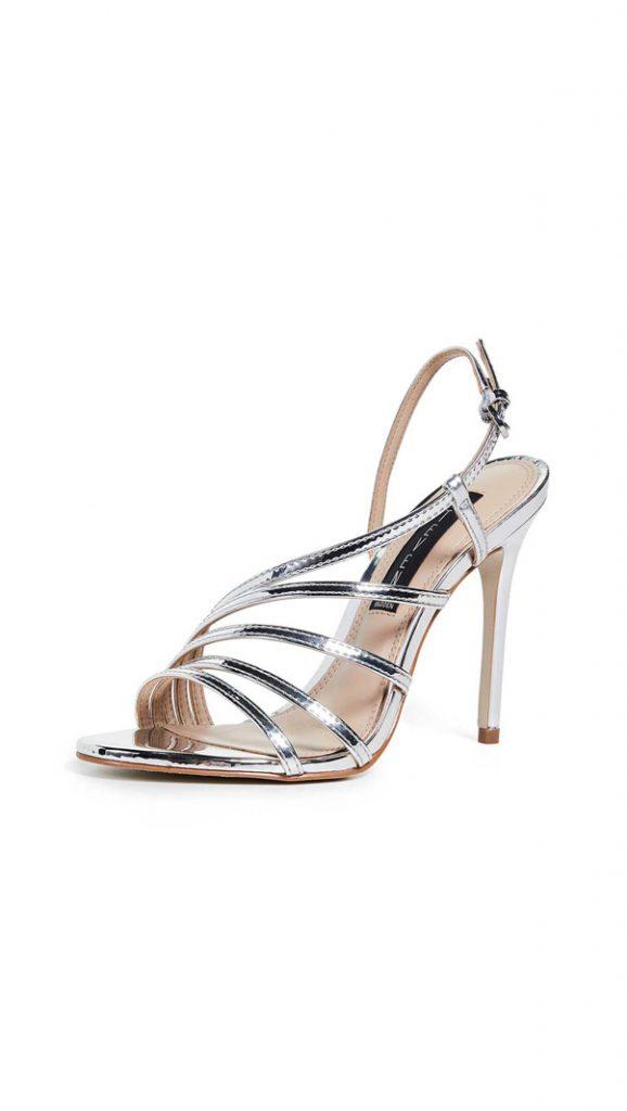 Sandales métallisées, de Steven