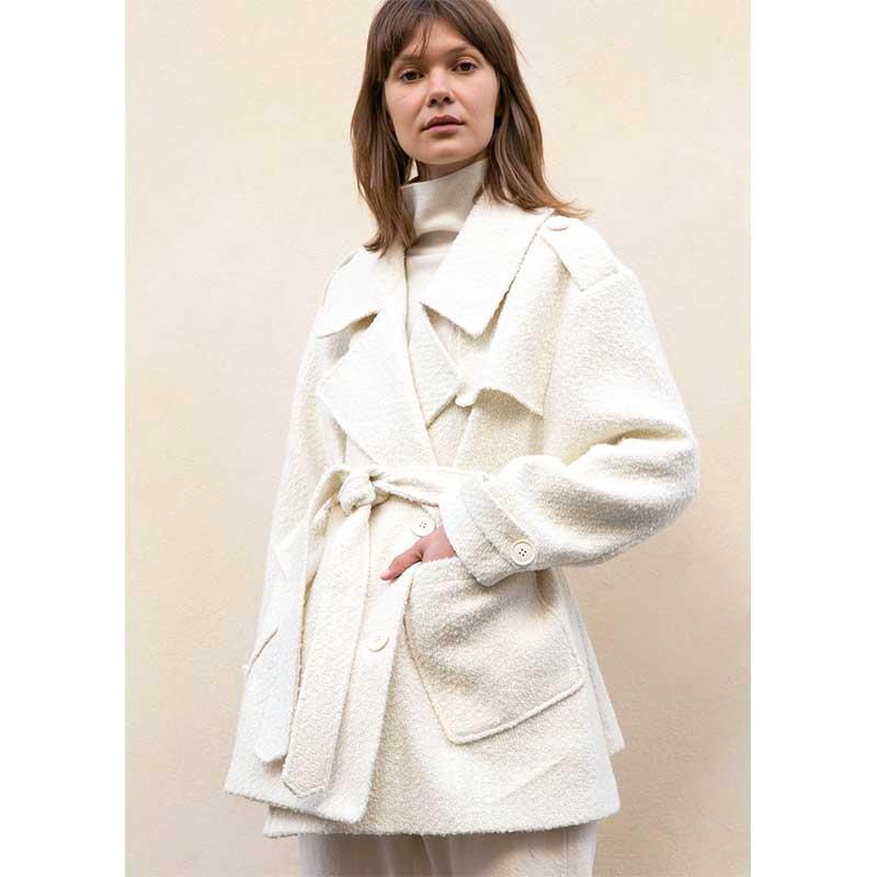 Caban-en-polyester,-laine-et-acrylique,-The-Frankie-Shop