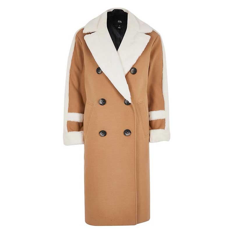 Manteau-en-polyester,-viscose-et-élasthanne,-River-Island