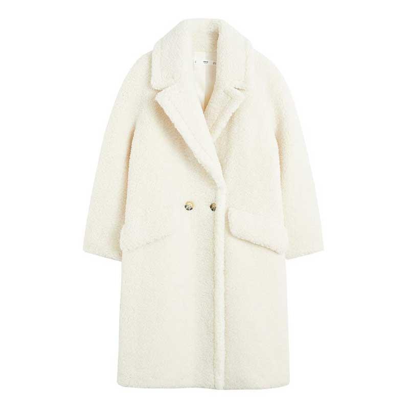 Manteau-style-«teddy»-en-polyester,-Mango