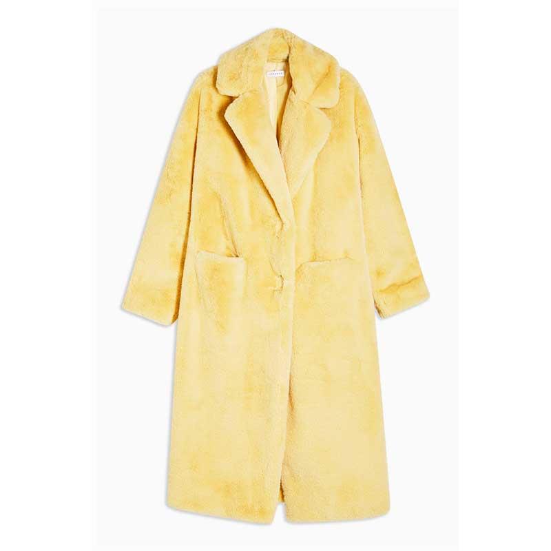 Manteau-style-«teddy»-en-polyester,-Topshop