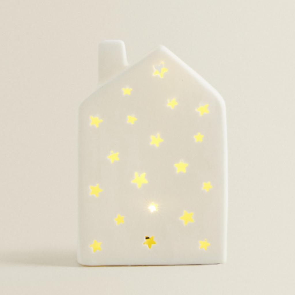 20-Maisonnette lumineuse en porcelaine et plastique, Zara Home