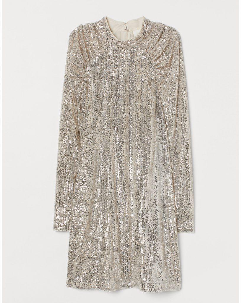 Robe à paillettes en polyester et élasthanne, H&M