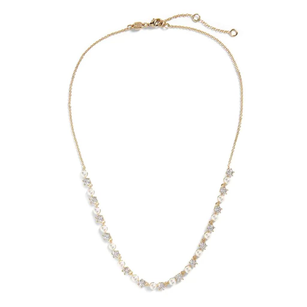 8-Collier en cuivre, zircons cubiques et perles d'acrylique, Banana Republic