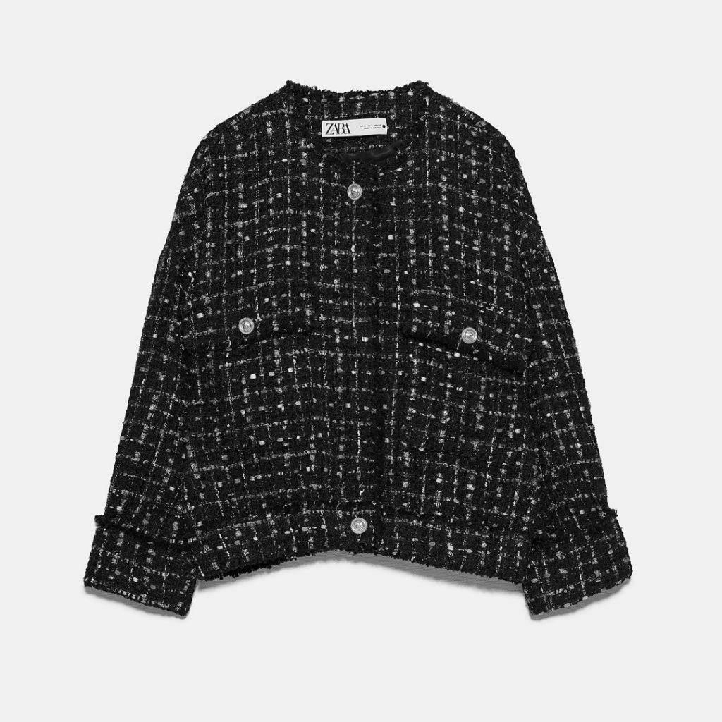 Blazer en tweed, de Zara