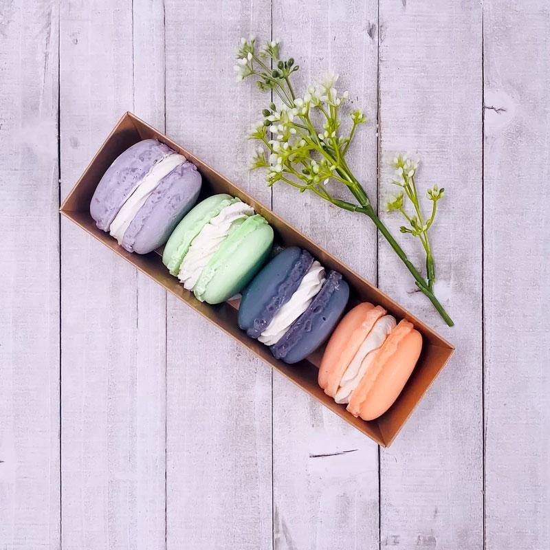Ensemble de savons artisanaux - Boîte de macarons