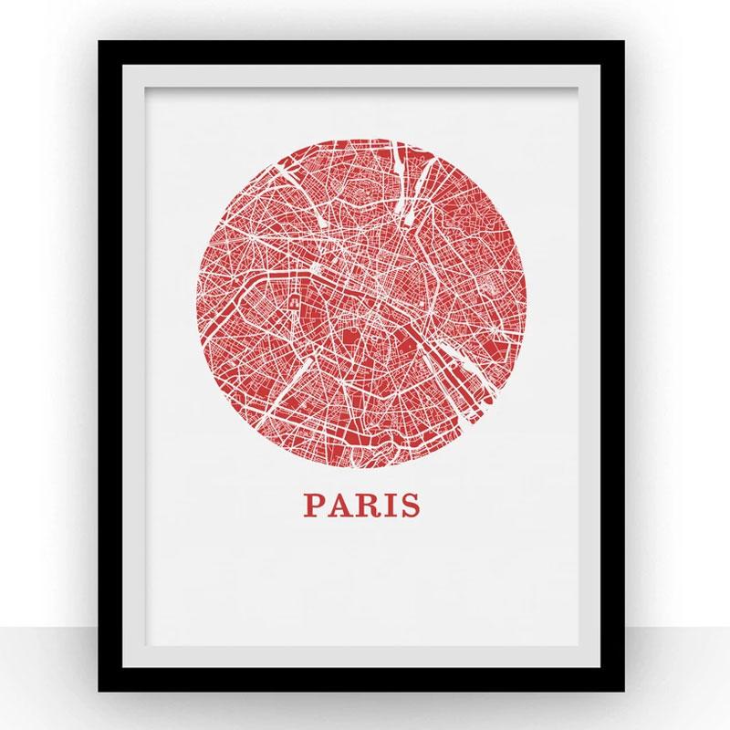 Affiche de Paris, la ville de l'amour!