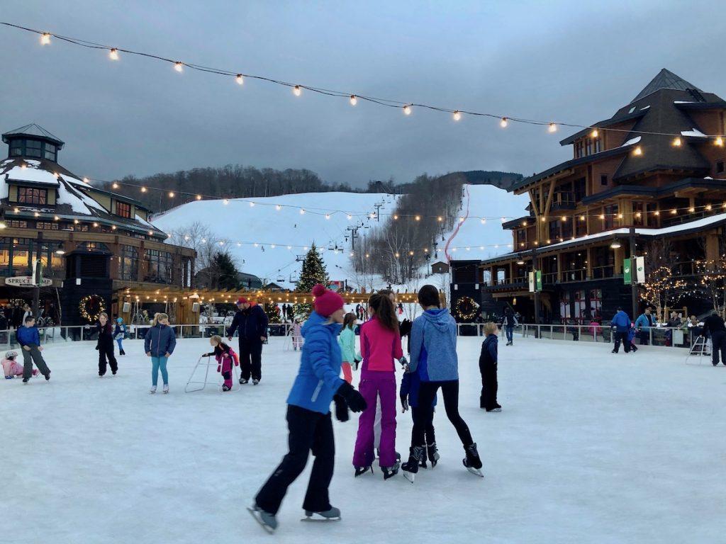 Après le ski, le patinage!