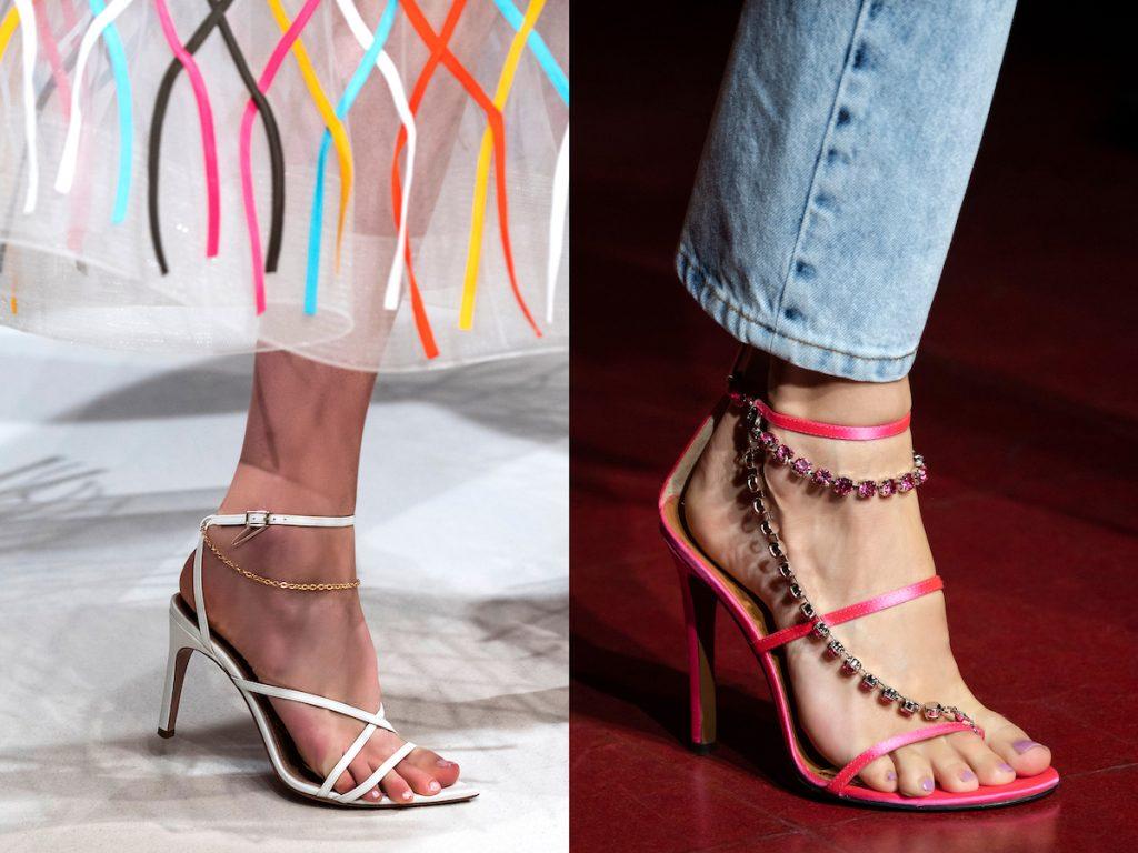 Chaussure avec chaînes