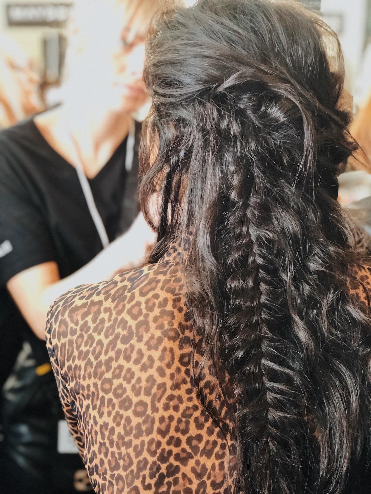 NYFW rebecca minkoff cheveux