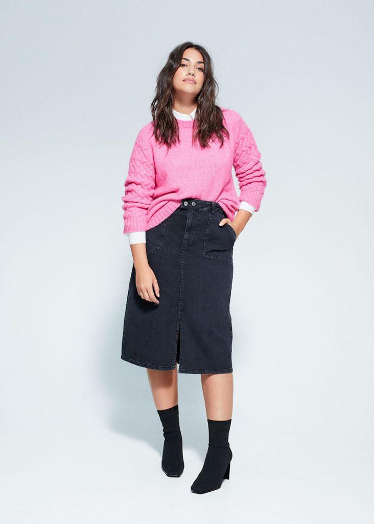 Shopping jupes hiver 2020 - Mango Violeta