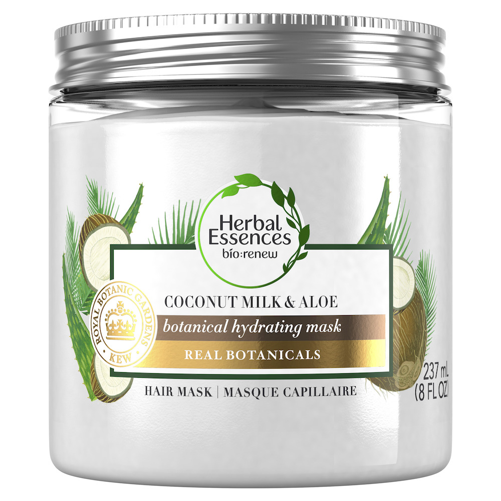 masque capillaire lait de coco aloes bio renew herbal essences