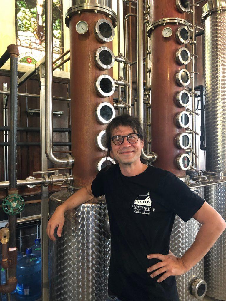Le distillateur Mathieu Fleury