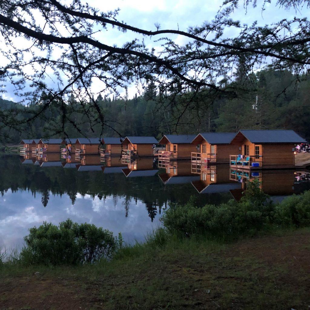 Cabines flottantes, Camping Domaine Lausanne