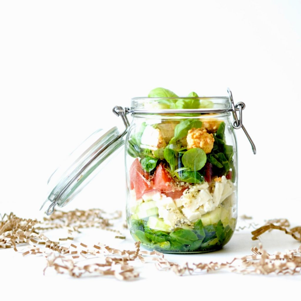 15 recettes de salade en pot