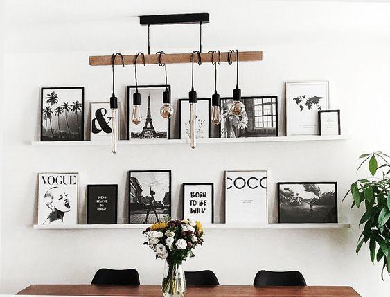 Déco: 25 murs de cadres qui nous inspirent