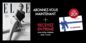 Abonnez-vous à ELLE Québec et recevez une carte-cadeau de 20$ chez Jean Coutu!