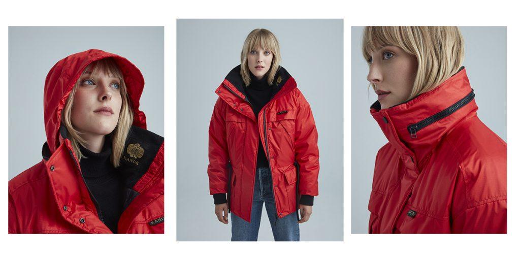 Manteau Kanuk modèle Typha dans la couleur rouge
