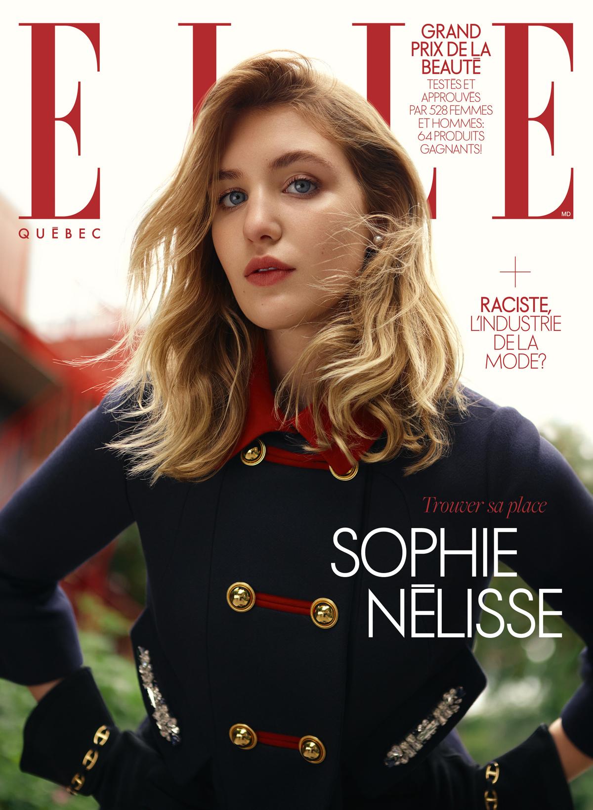 Sophie Nélisse en couverture du magazine ELLE Québec de novembre