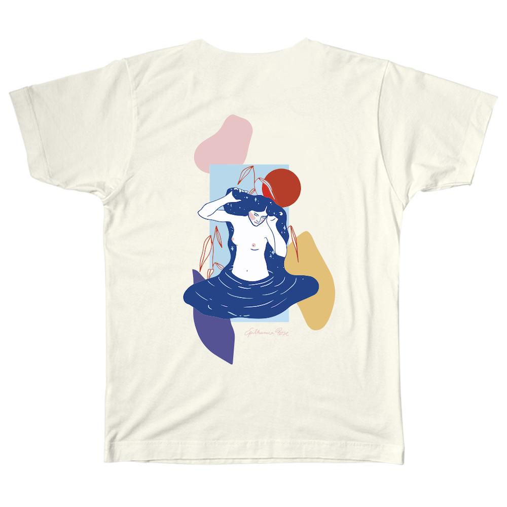 T-shirt unisexe Midnight Mistress (Crème), de Le Cartel X Epithumia Rose (40 $)