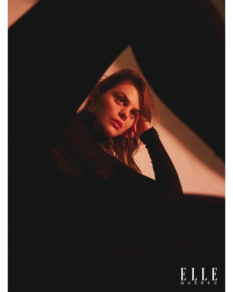 Les photos du shooting de Bianca Gervais pour ELLE Québec
