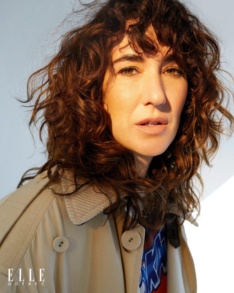 Karine Gonthier-Hyndman en couverture d'ELLE QUÉBEC