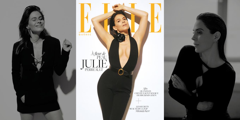 Julie Perreault en couverture d'ELLE QUÉBEC