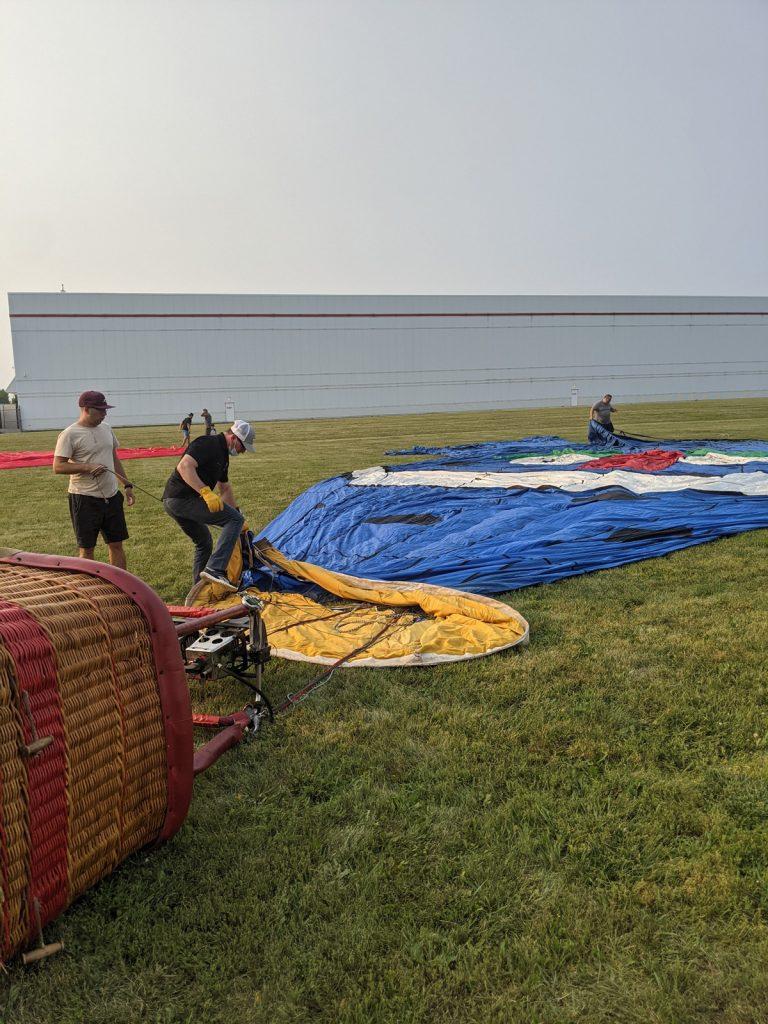 J'ai vécu mon baptême de l'air en montgolfière!
