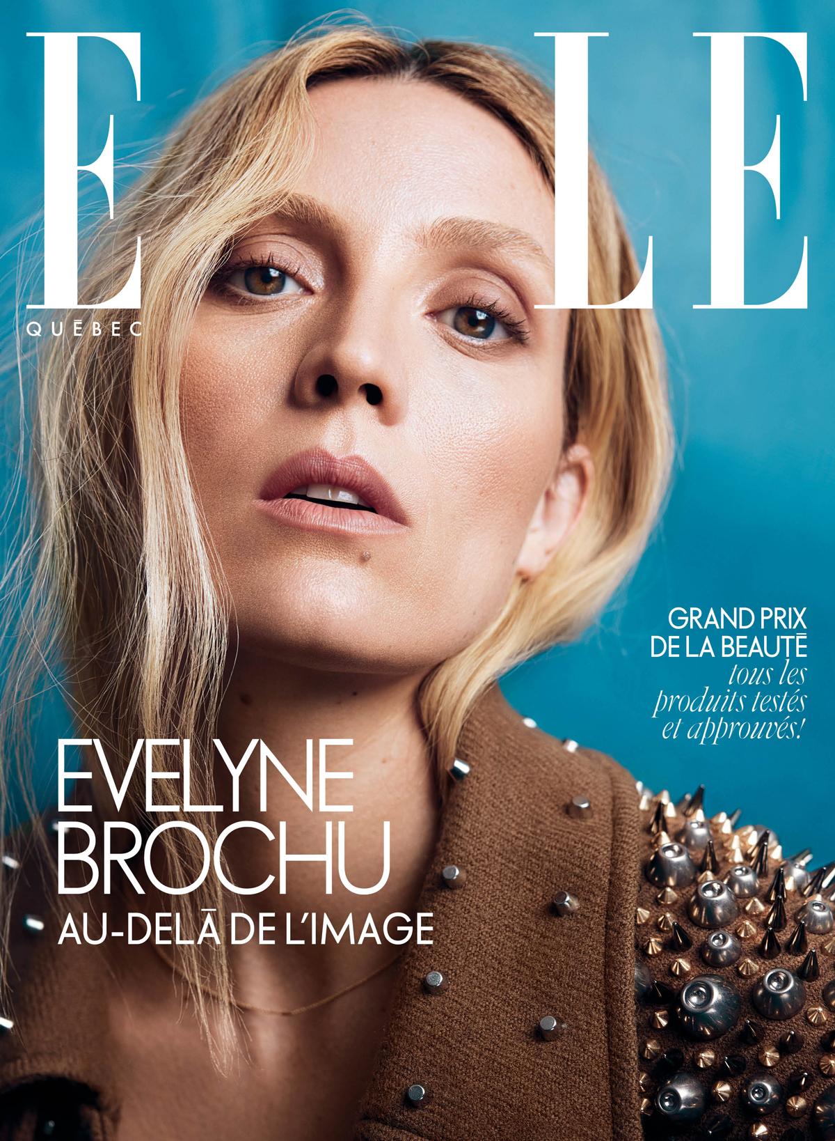 Evelyne Brochu en couverture du magazine ELLE Québec de novembre